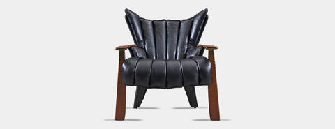 Verite Armchair Black Front | Pacific Green Furniture | Andrew Shoemaker