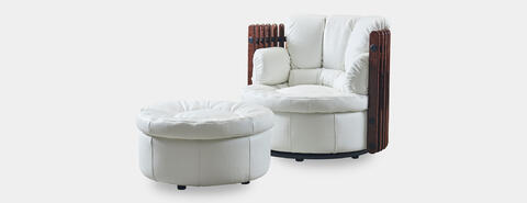 Isle D'Palm Armchair With Ottoman