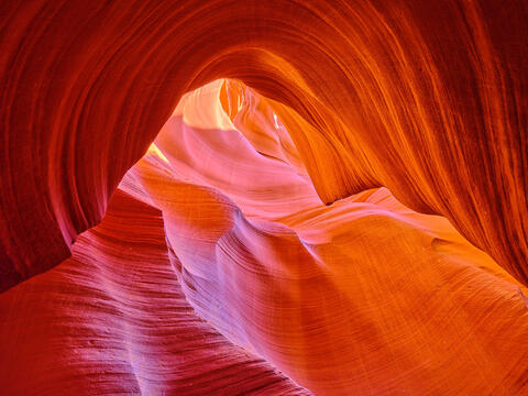 abstract wall art image of lower antelope canyon in page, Arizona in the american southwest.  Fine art nature photography from Hawaii artist Andrew Shoemaker