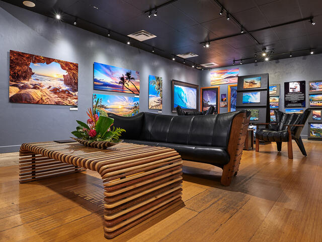 pacific green furniture at the Andrew Shoemaker Fine Art Photography Gallery in Lahaina, Maui