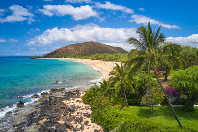 fine art photograph of Makena State Park also known as Big Beach on the island of Maui, Hawaii.  Hawaii photography by Andrew Shoemaker