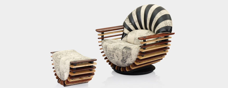 luxor, furniture, pacific green, ottoman