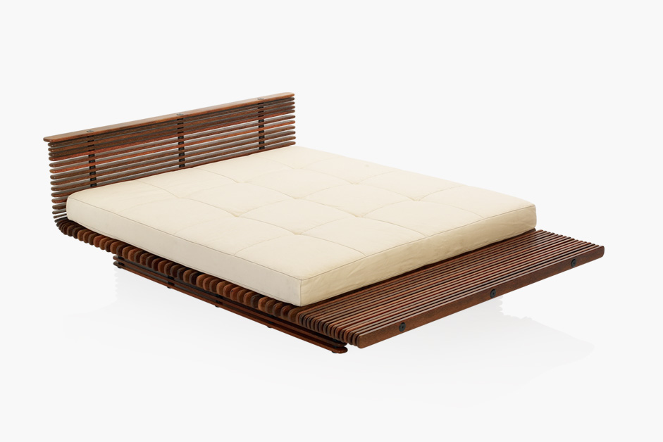 PRODUCT DESCRIPTION Download The elegant bed is made from Palmwood spines, beautifully sanded and polished to give them a rich...