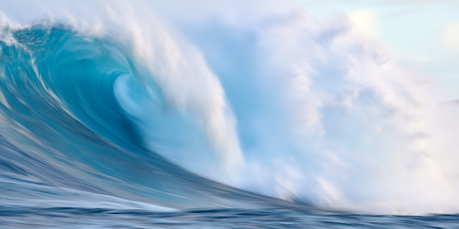 a slow motion capture of the largest wave in Hawaii Peahi or also known as Jaws.