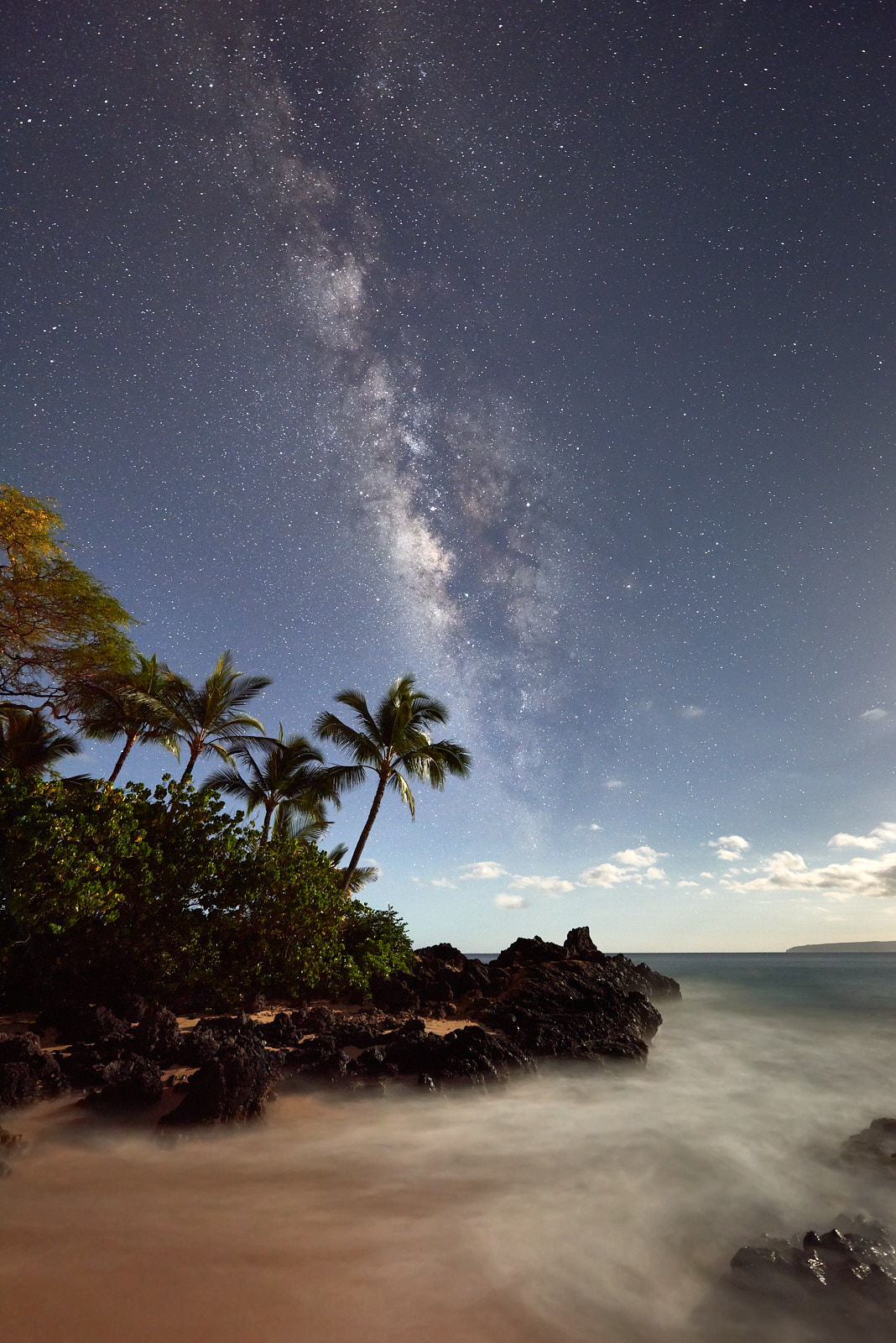 There are few things as epic as the milky way galaxy rising and seeing this with your own eyes!  Secret Beach here on Maui is...